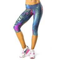 Pink Sun Animal Mix Womens Capris