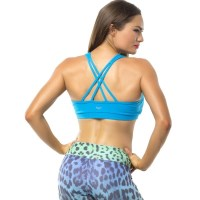Pink Sun Energy Womens Crop Top - Turquoise
