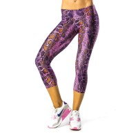 Pink Sun Pink Snake Womens Extra Lightweight Leggings